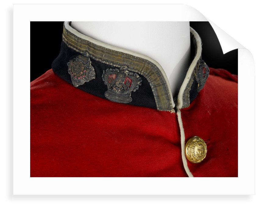 Tunic - collar detail, Royal Marines Light Infantry uniform: pattern 1856-1863 by J. & C. Linney