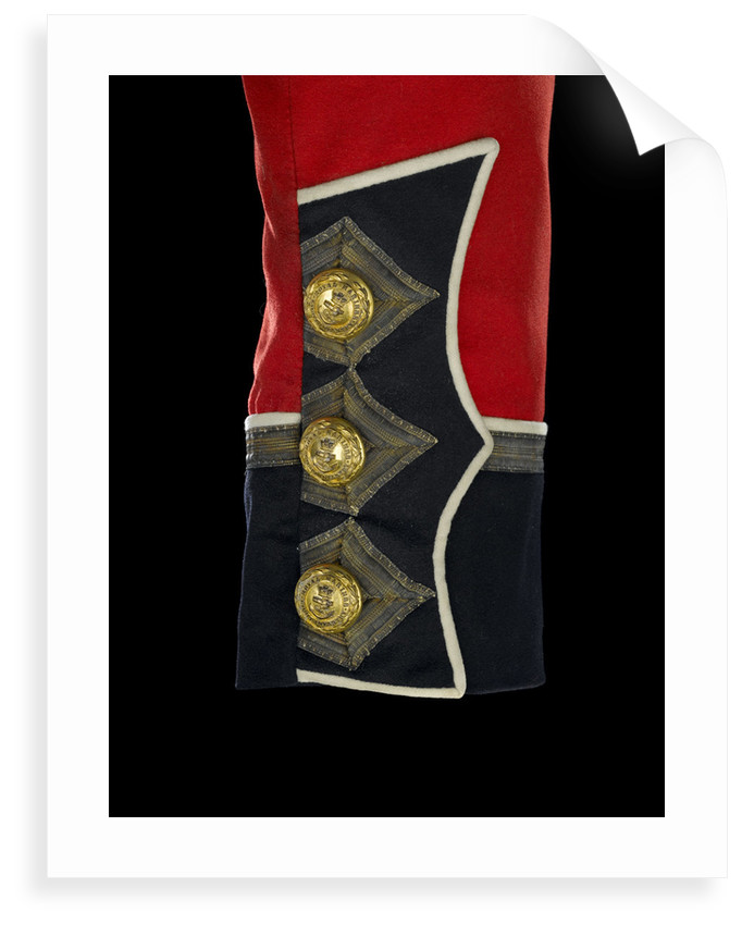 Tunic - cuff detail, Royal Marines Light Infantry uniform: pattern 1856-1863 by J. & C. Linney
