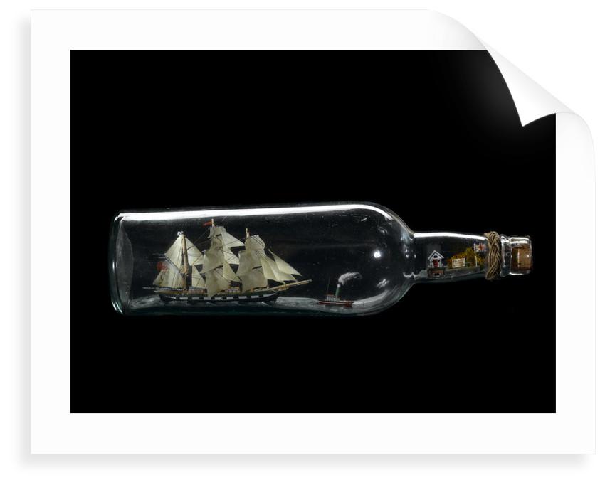 Ship model in a bottle by Leon Labistour