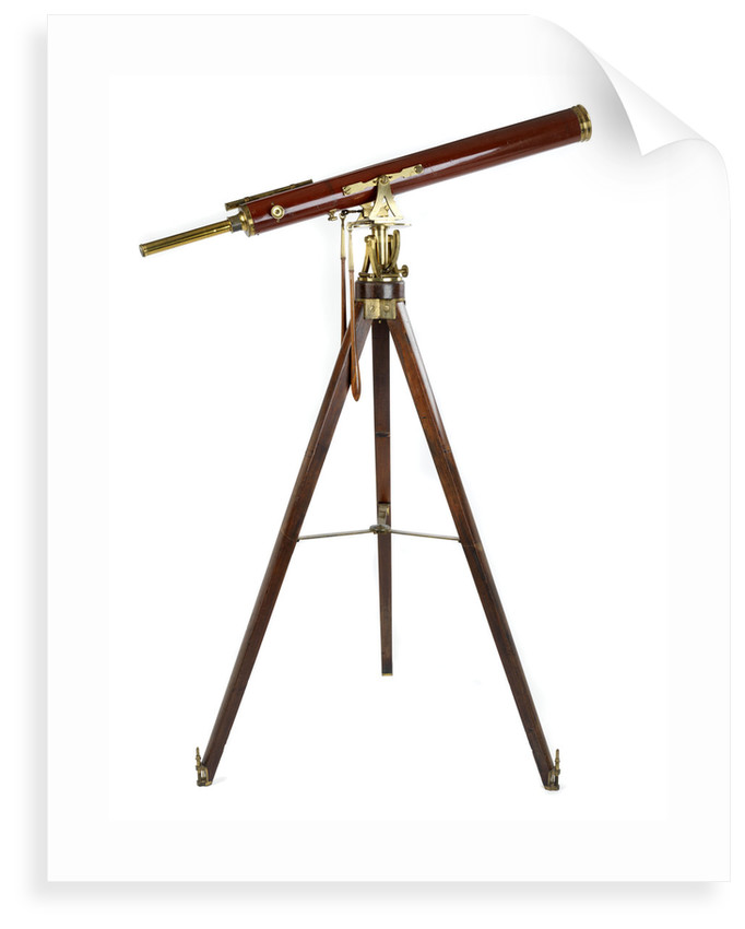 Portable refractor telescope by Dollond family
