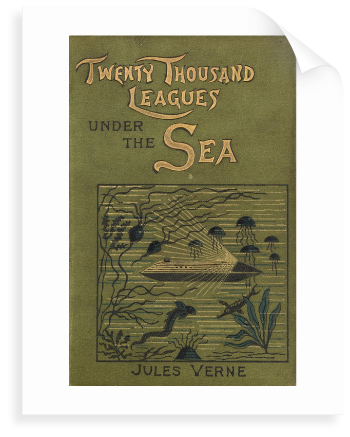 Cover of Jules Verne's 'Twenty Thousand Leagues Under The Sea' by Alphonse-Marie-Adolphe de Neuville