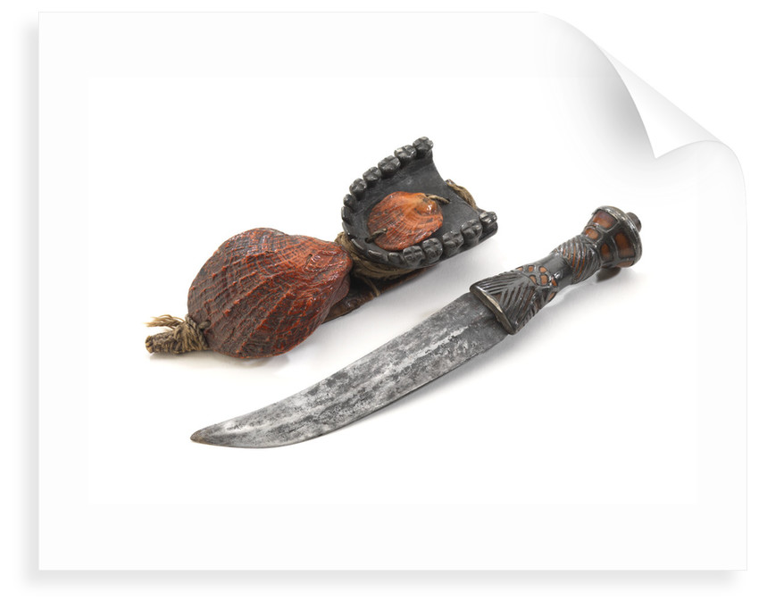 Akan knife and sheath by unknown