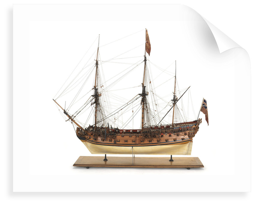 Ship of 60 guns, port broadside by unknown
