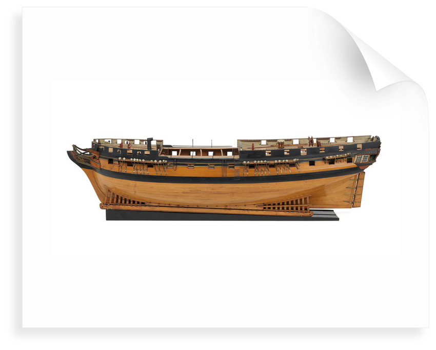 Ship of 36 guns, port broadside by unknown