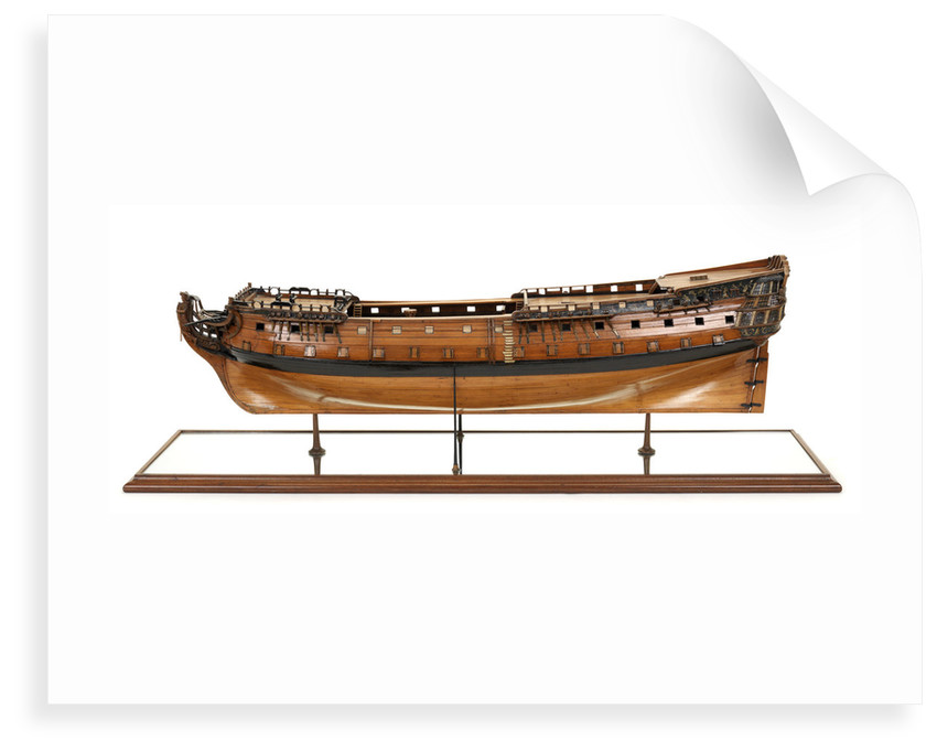 Ship of 80 guns, port broadside by unknown