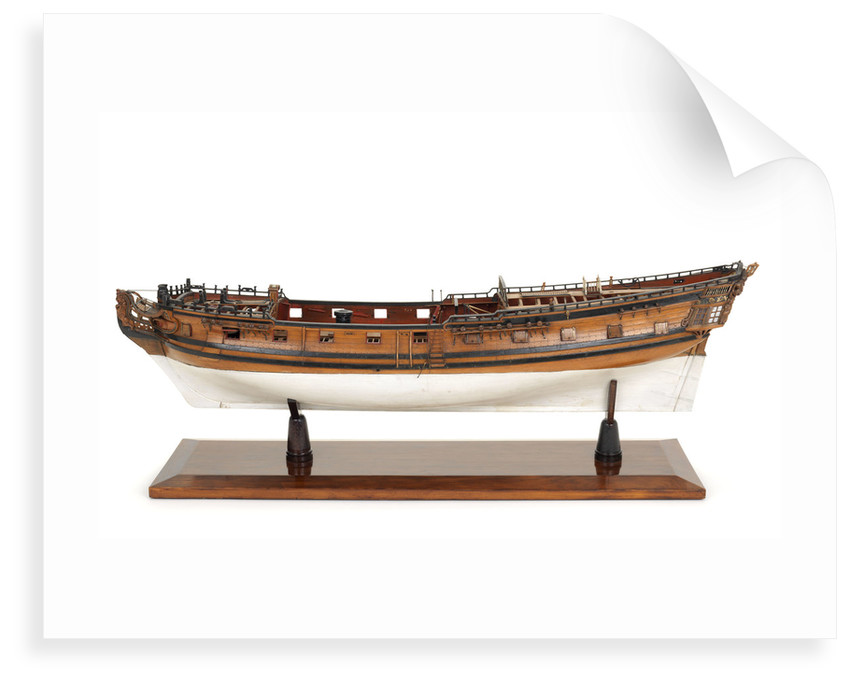 Ship of 20 guns, port broadside by unknown