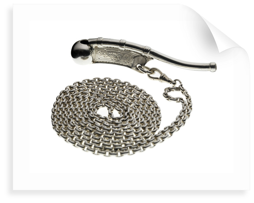 Silver boatswain's call used by Mr Reynolds, Boatswain of Royal Yacht 'Victoria & Albert' by Hilliard & Thomason