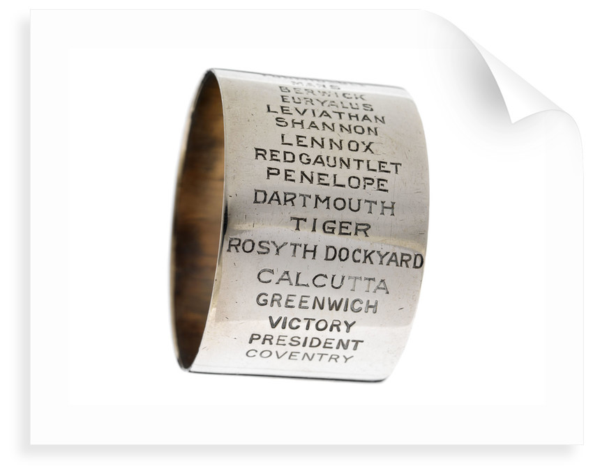 Napkin ring of Engineer Rear-Admiral Harold Hugh Huxham DSO (1881-1968) by unknown