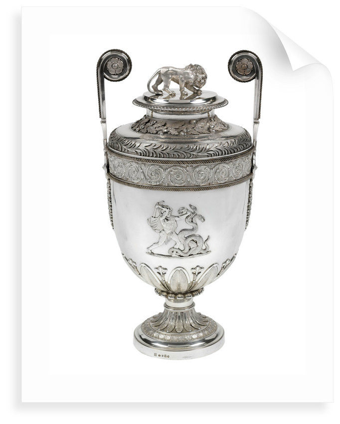 Lloyd's Patriotic Fund vase presented in memory of John Cooke, (1763-1805), Captain of HMS 'Bellerophon' who died at the Battle of Trafalgar, 1805 by Benjamin Smith