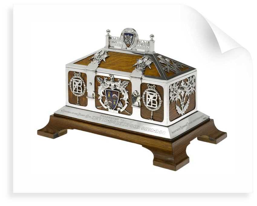 Freedom casket presented to Admiral of the Fleet Sir David Beatty, 1st Earl Beatty (1871-1936) by the City of Dunfermline, 13 September 1919 by unknown