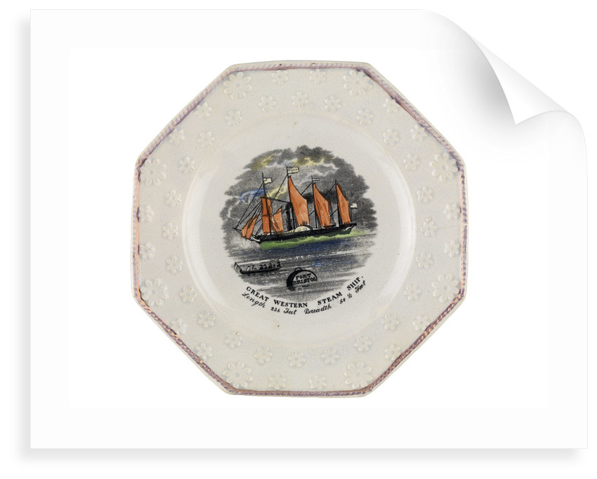 Plate of Brunel's 'Great Western' by unknown