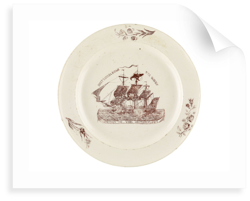 Britannia Rule the Waves' plate by unknown