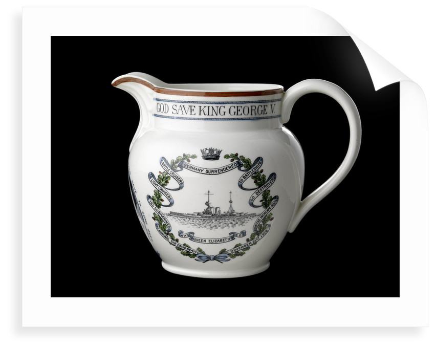 Jug with moulded lip and loop handle by Collingwood Bros. Ltd.