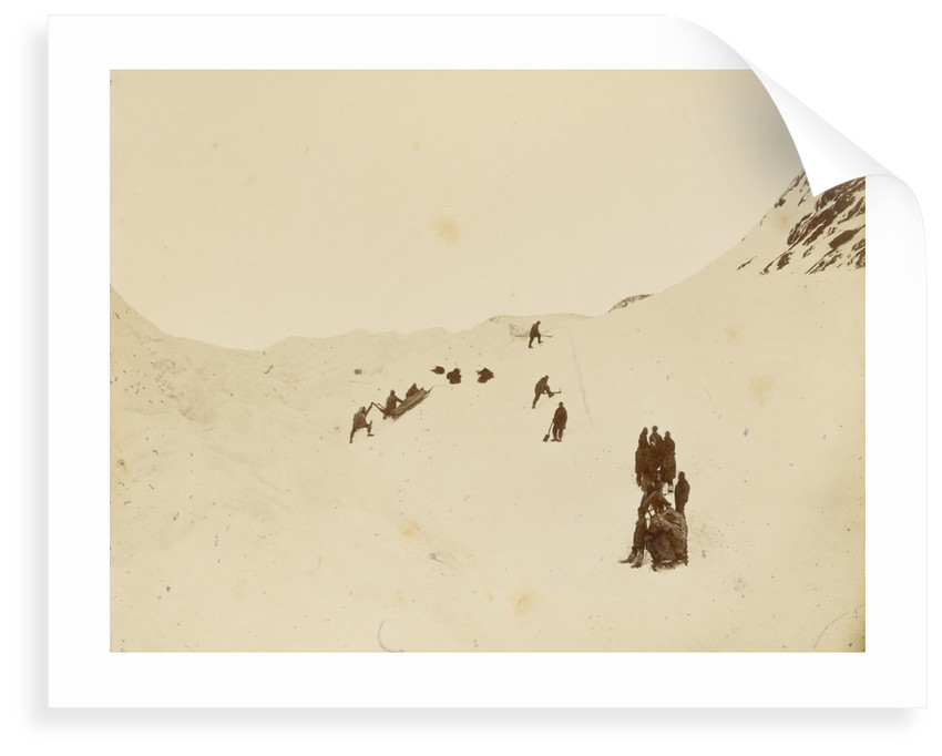Sledging party rounding Cape Rawson by George White