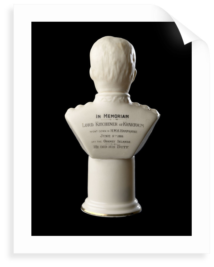 White Goss-type bust figure of Lord Kitchener in uniform by Carlton China 'W & A'