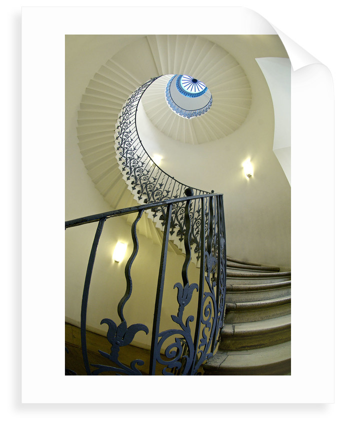 Tulip Stair in Queen's House, Greenwich by National Maritime Museum Photo Studio