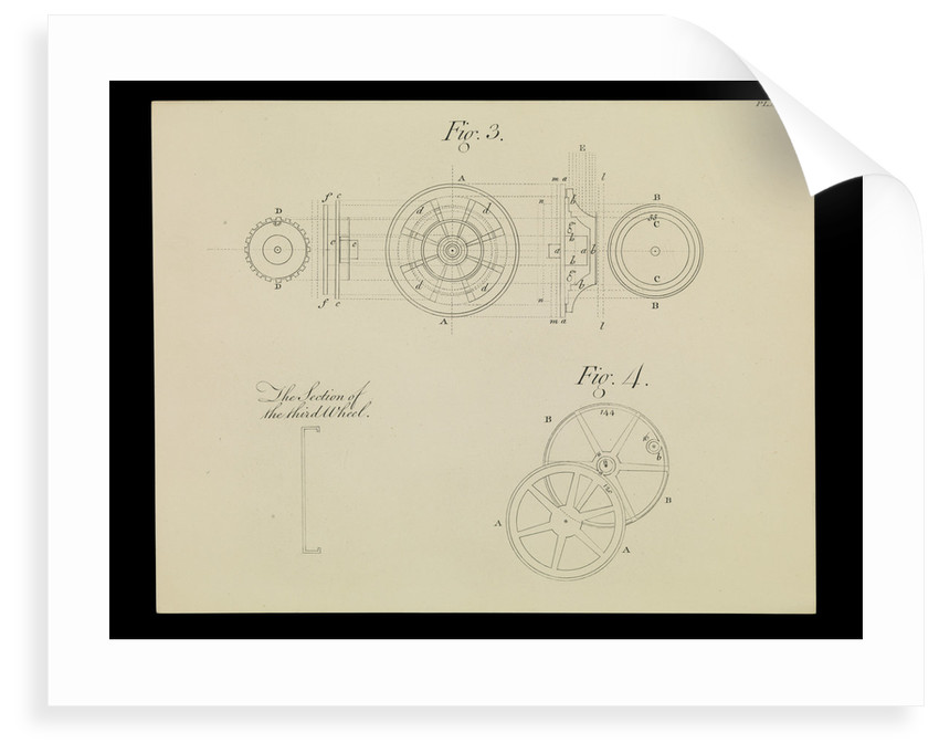 Figure 3 of 10 relating to Harrison's 4th marine timekeeper taken from 'The Principles of Mr Harrison's Timekeeper' (1767) by unknown