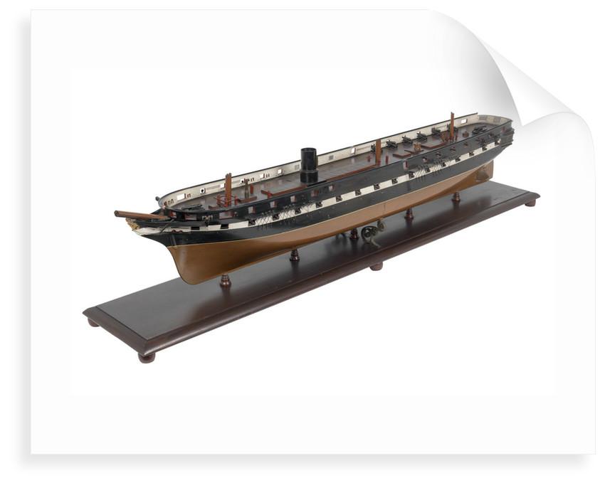 51-gun steam frigate HMS 'Immortalite' (1859) by unknown