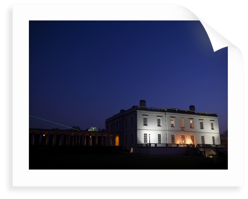 Night-time view of Queen's House, Greenwich by National Maritime Museum Photo Studio