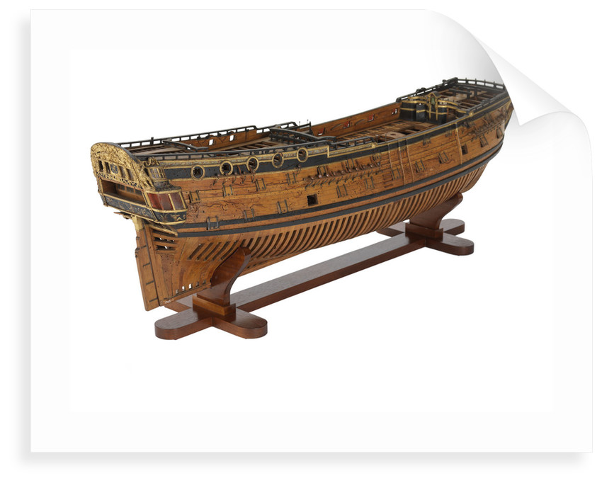 Warship (circa 1705) by unknown