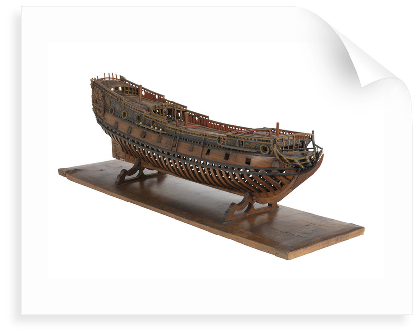 Model of a warship, frigate, 36-40 guns by unknown