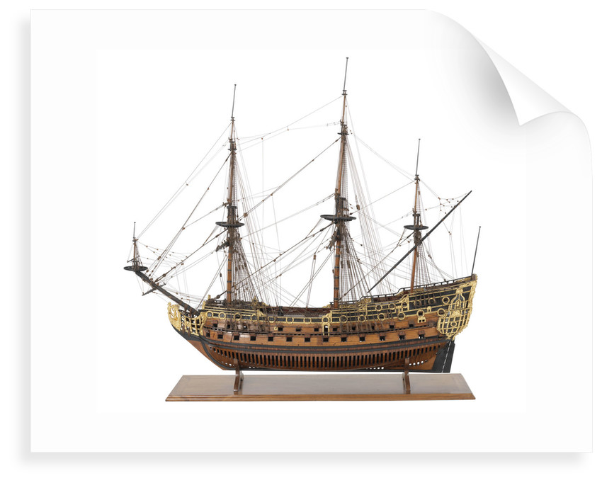 Ship of 90-guns by unknown