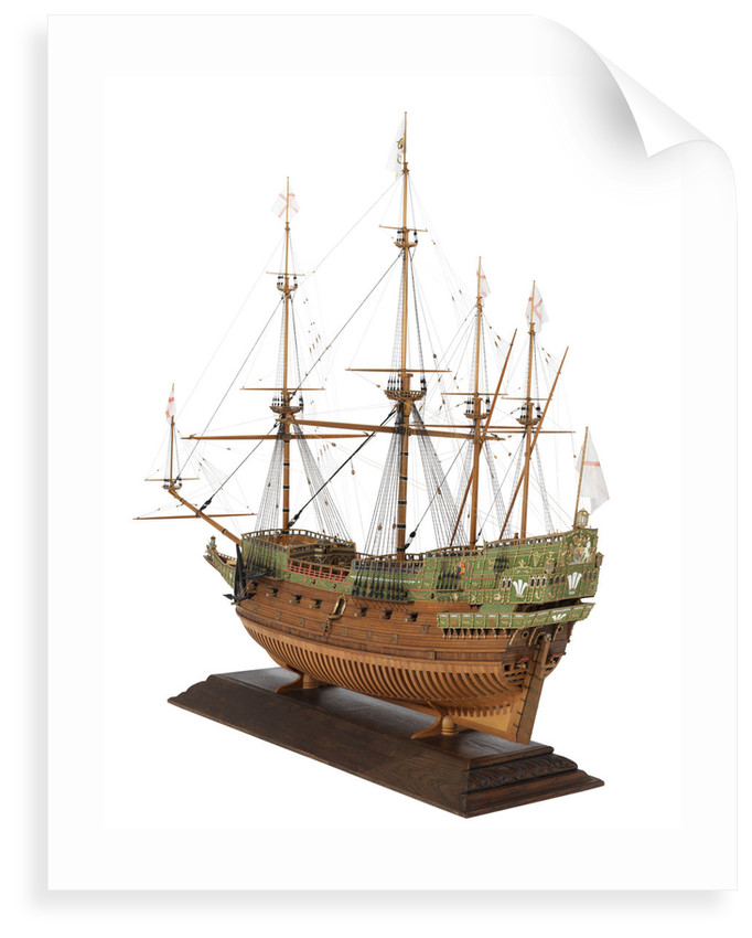 'Prince Royal' (fl.1610); Warship; 55 guns by Basil Grenville Peter