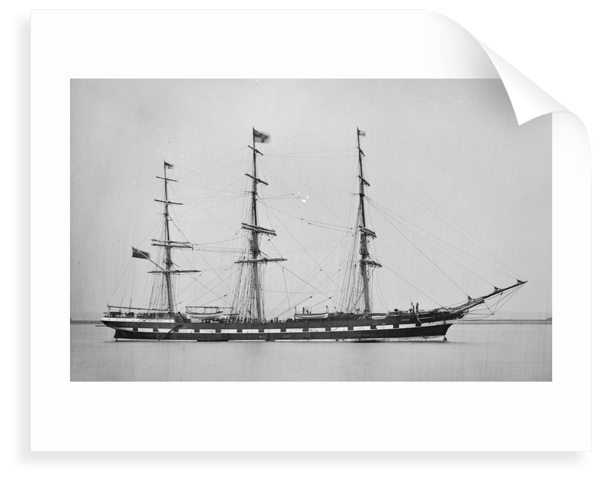Photograph of the 'Camperdown' (Br, 1875) 13 April 1876 by unknown