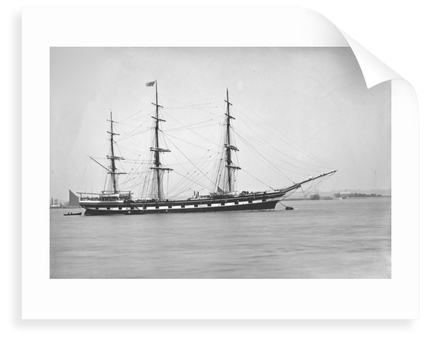 Distant starboard side view of the vessel Waitangi (1874) by F C Gould & Son