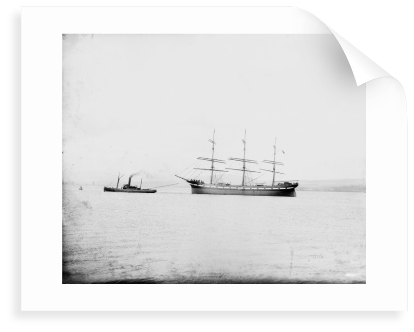 The 'Pendeen' (Br, 1896) in tow of the tug 'Hercules', probably when new by unknown