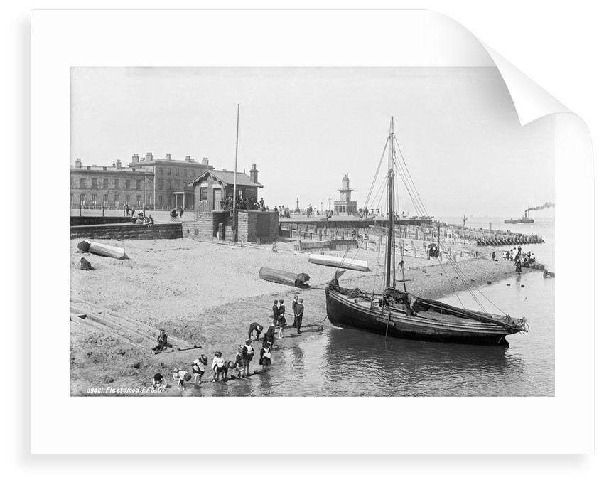 Beach and customs watch house, Fleetwood, Lancashire by National Maritime Museum