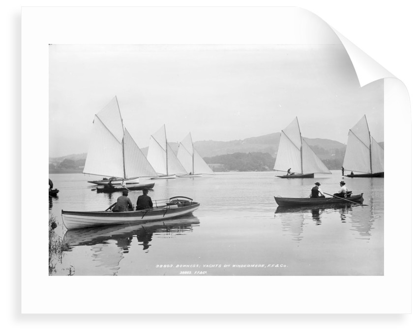 Yachts and pulling skiffs on the lake at Bowness, Lake Windermere by National Maritime Museum