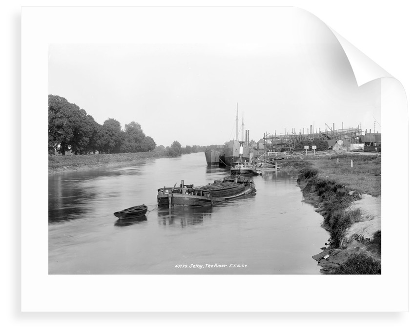 The River Ouse, showing the yard of the Selby Shipbuilding and Engineering Co Ltd. by unknown
