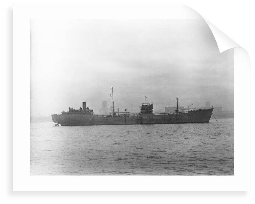 'Empire Silver' (Br, 1941) tanker, at anchor in the River Mersey by Anonymous