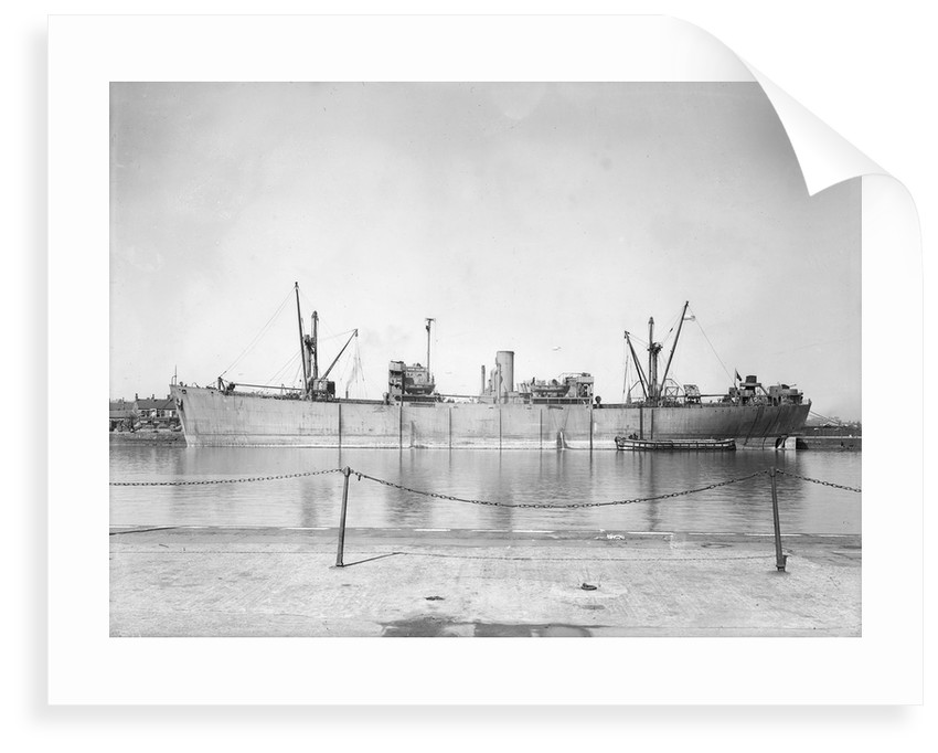 'Ocean Gallant' (Br, 1942), at quayside by unknown