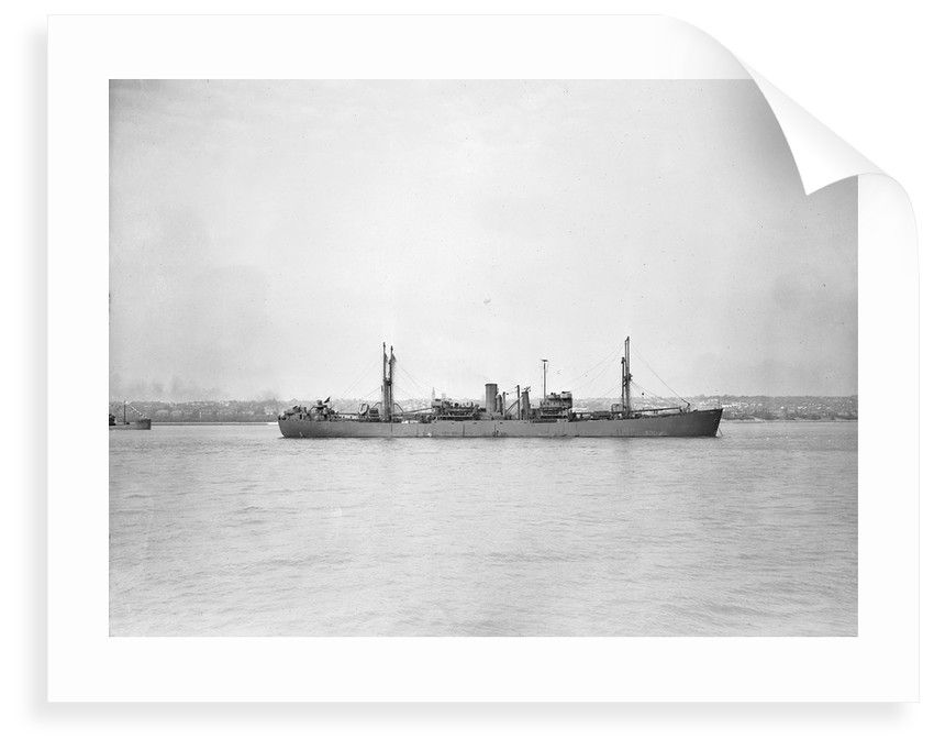 'Ocean Gallant' (Br, 1942), at anchor by unknown
