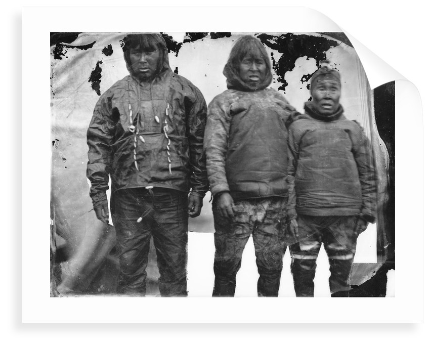 Portrait of Inuit group by Edward Augustus Inglefield