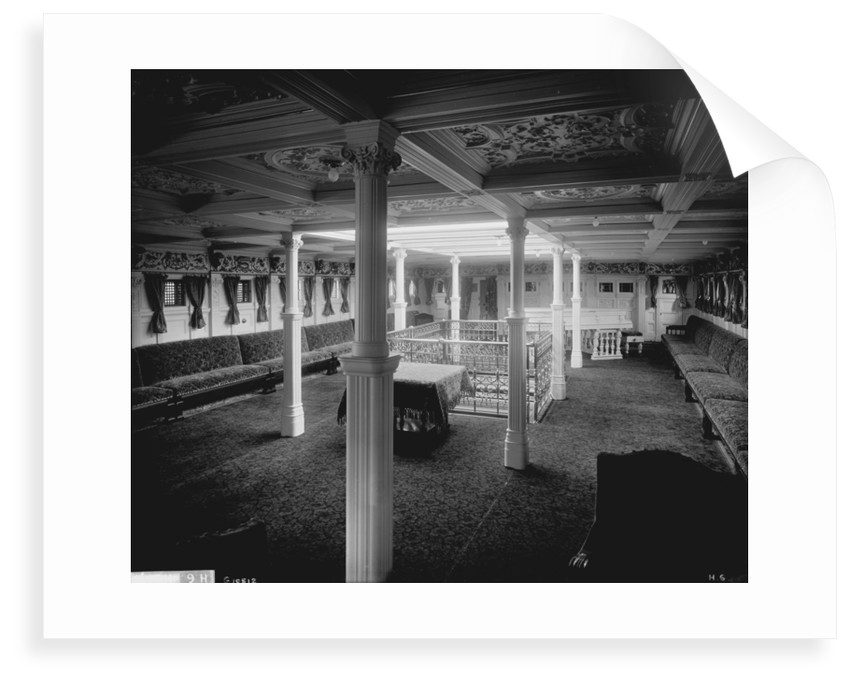 Music Room of the ''Himalaya'' (1892) by Bedford Lemere & Co.