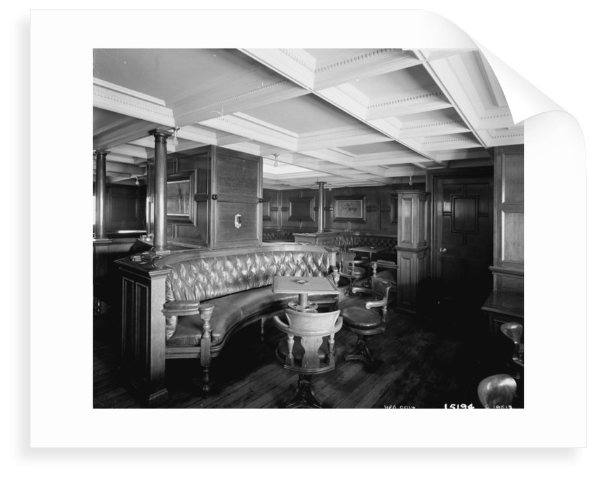 First Class Smoking Room on the 'Omrah' (1899) by Bedford Lemere & Co.