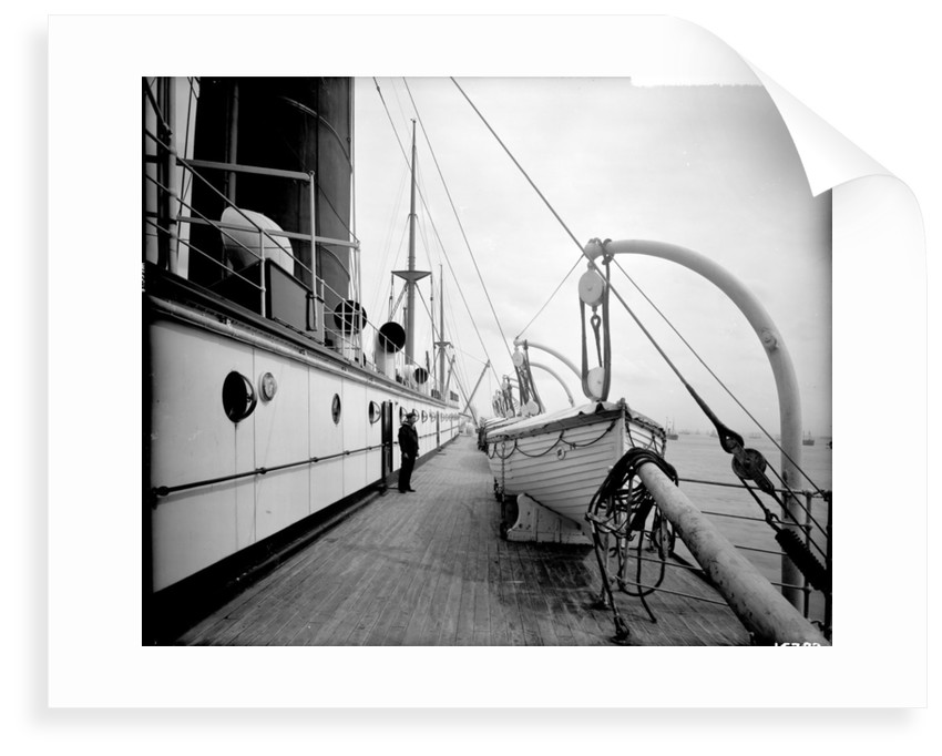 Boat Deck on the 'Saxonia' (1900) by Bedford Lemere & Co.
