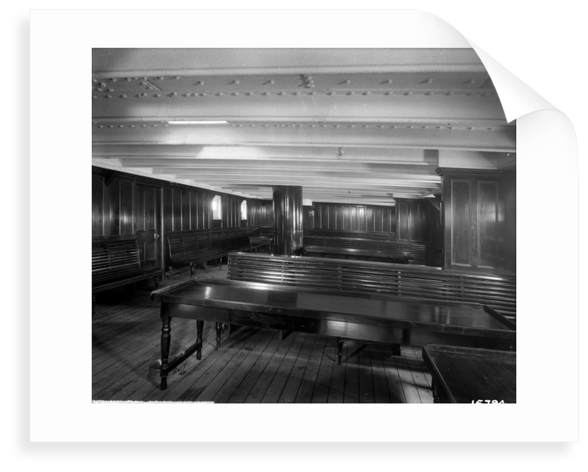 Third Class Smoking Room on the 'Saxonia' (1900) by Bedford Lemere & Co.