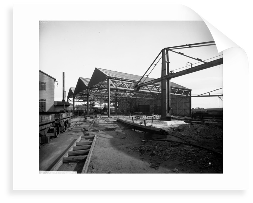 Beam Shed at John Brown & Co. Ltd, Clydebank, 1901 by Bedford Lemere & Co.