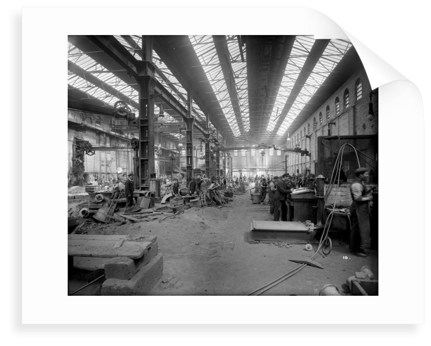 Brass Foundry at John Brown & Co. Ltd, Clydebank, 1901 by Bedford Lemere & Co.