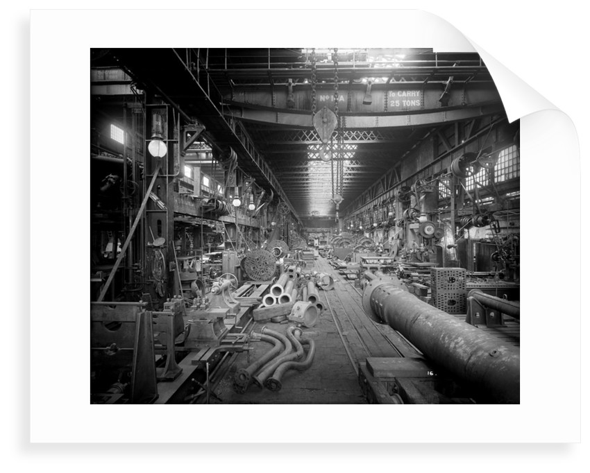 Large Machine Shop in the Engine Works at John Brown & Co. Ltd, Clydebank, 1901 by Bedford Lemere & Co.