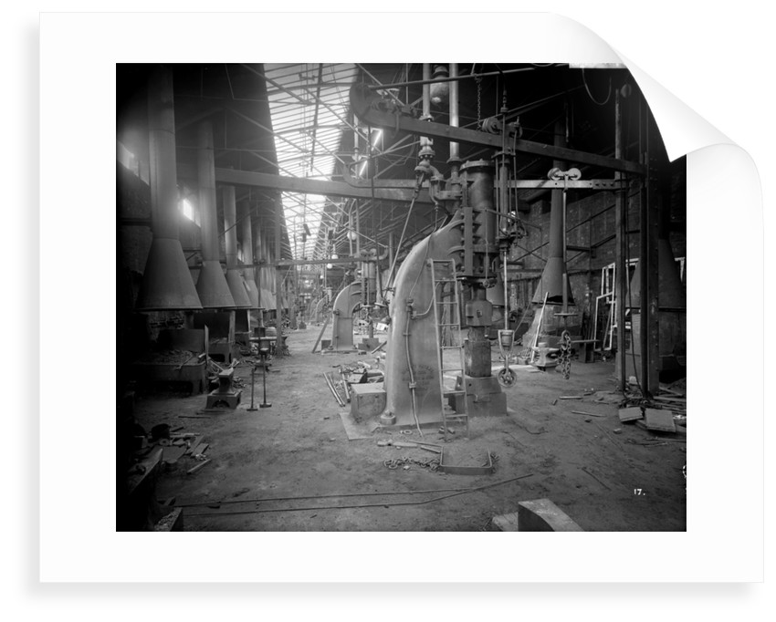 Engine Works Smithy at John Brown & Co. Ltd, Clydebank, 1901 by Bedford Lemere & Co.