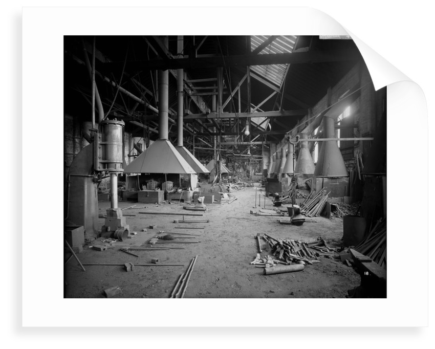 Shipyard Smithy at John Brown & Co. Ltd, Clydebank, 1901 by Bedford Lemere & Co.