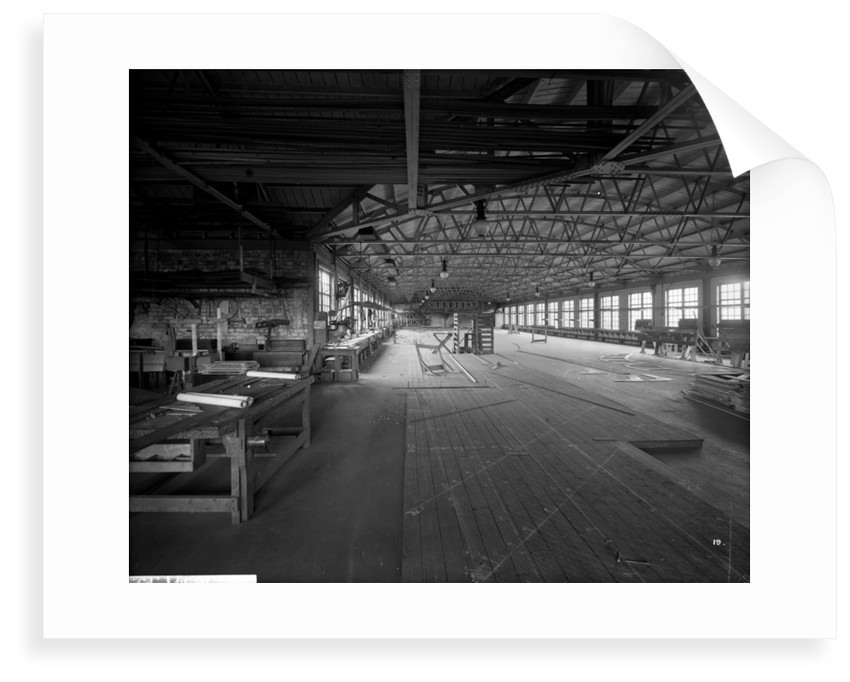 Mould Loft at John Brown & Co. Ltd, Clydebank, 1901 by Bedford Lemere & Co.