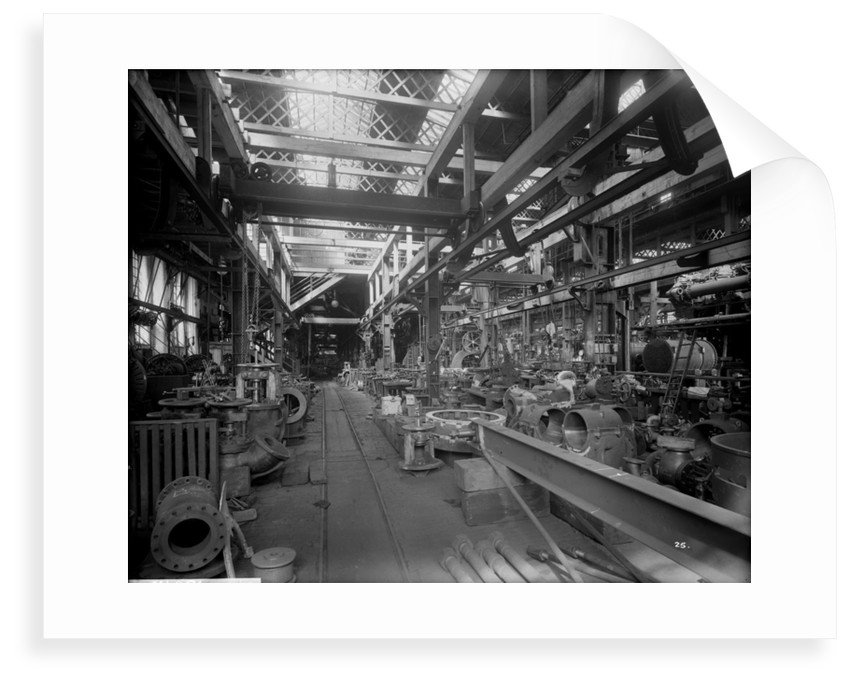 Small Machine Shop in the Engine Works at John Brown & Co. Ltd, Clydebank, 1901 by Bedford Lemere & Co.