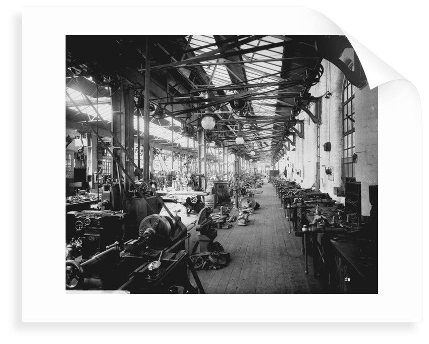 Brass-Finishing Shop at John Brown & Co. Ltd, Clydebank, 1901 by Bedford Lemere & Co.