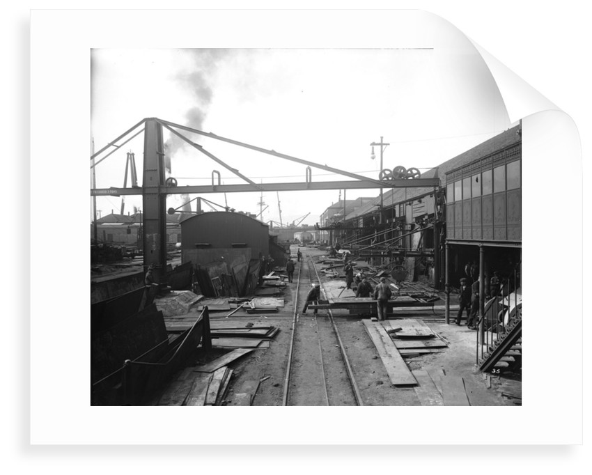 Area outside the Platers' Machine Shed at John Brown & Co. Ltd, Clydebank, 1901 by Bedford Lemere & Co.